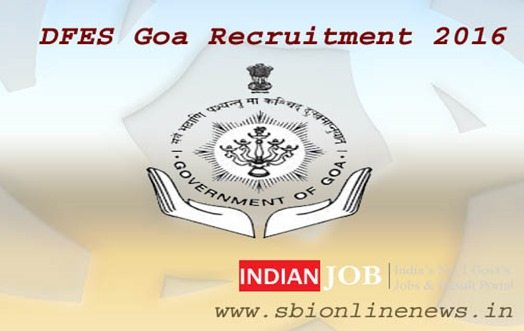 DFES Goa Recruitment 2016