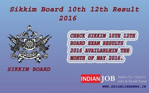 Sikkim Board 10th 12th Result 2016