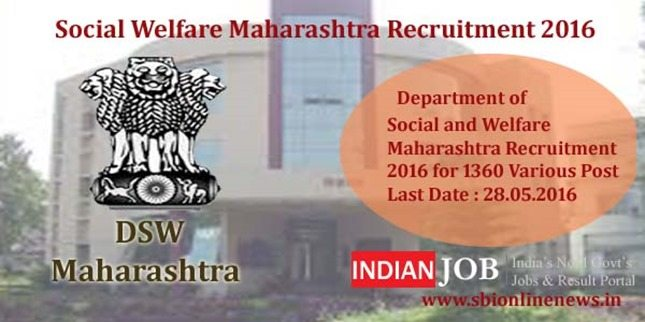 Social Welfare Maharashtra Recruitment 2016 copy