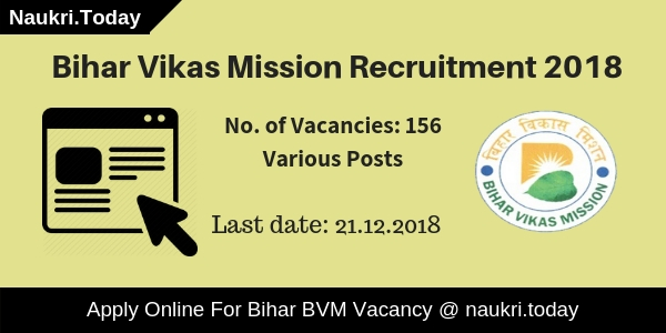 Bihar Vikas Mission Recruitment
