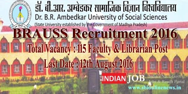 BRAUSS Recruitment 2016