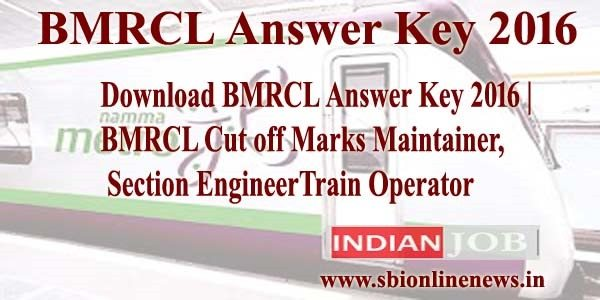 BMRCL Answer Key 2016