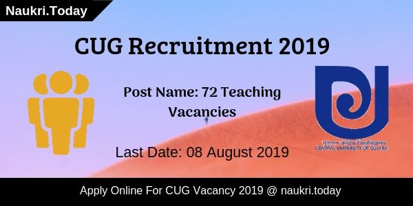 CUG Recruitment