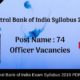 Central Bank of India Syllabus