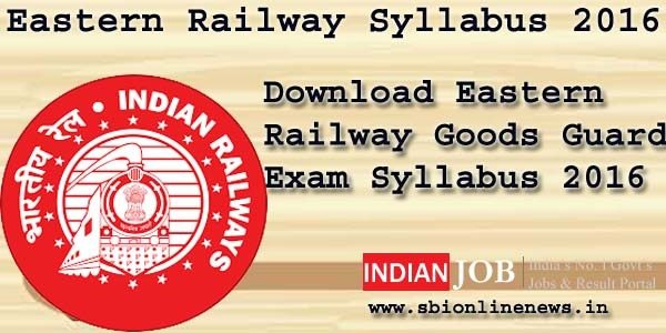 Eastern Railway Syllabus 2016