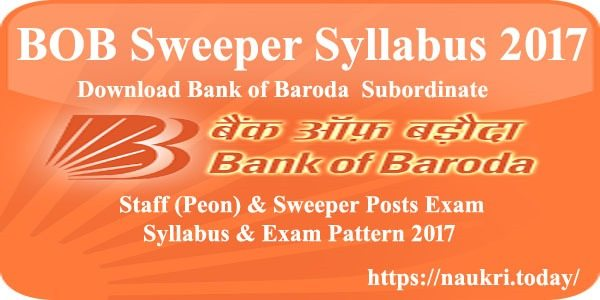BOB Sweeper Syllabus 2017