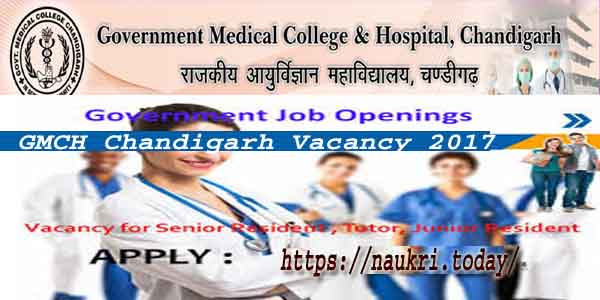 GMCH Chandigarh Vacancy 2017