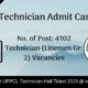 UPPCL Technician Admit Card