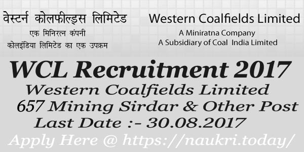 WCL Recruitment 2017 – 18