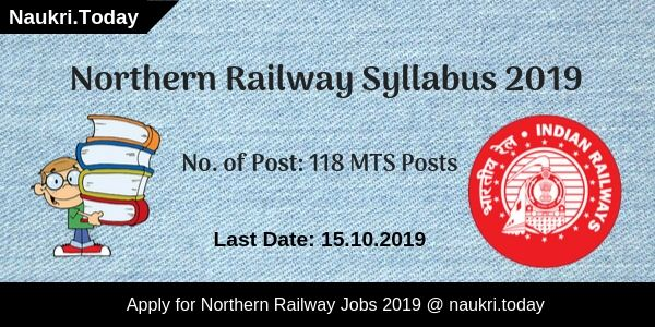 Northern Railway Syllabus