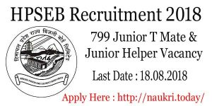 HPSEB Recruitment 2018