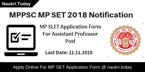 MP SET Notification
