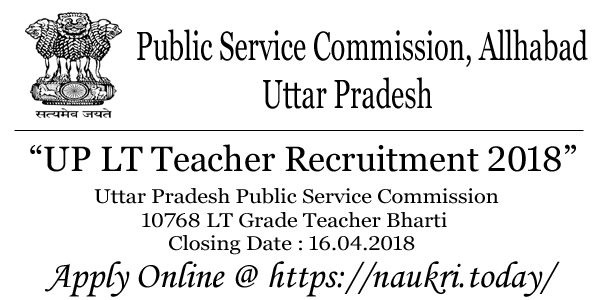 UP LT Teacher Recruitment 2018