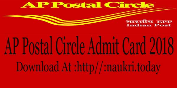 AP Postal Circle Admit Card