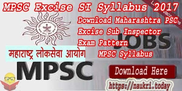 MPSC Excise SI Syllabus 2017