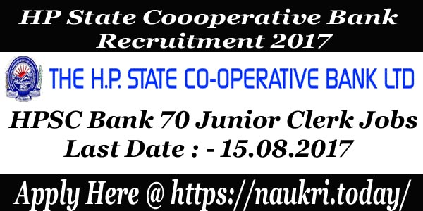 HP State Cooperative Bank Recruitment 2017