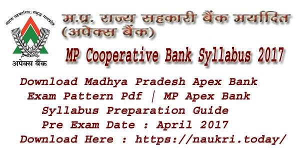 MP Cooperative Bank Syllabus 2017