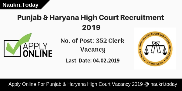 Punjab & Haryana High Court Recruitment