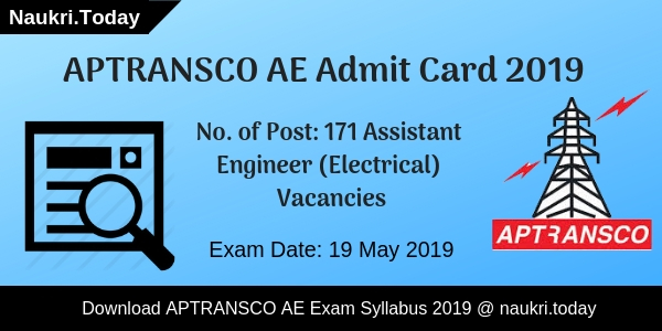 APTRANSCO Admit Card