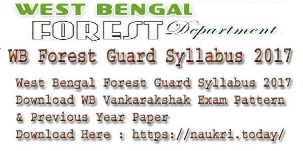 WB Forest Guard Syllabus 2017