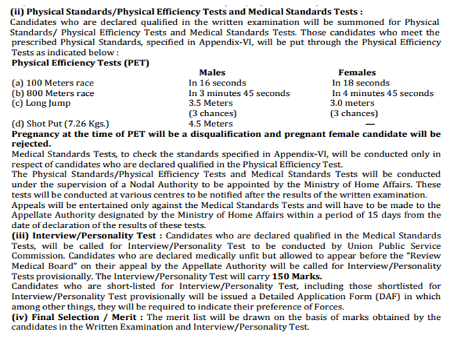 PST, PET, Medical Test, Interview details