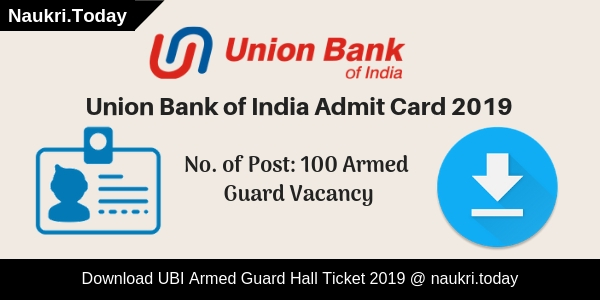 Union Bank of India Admit Card