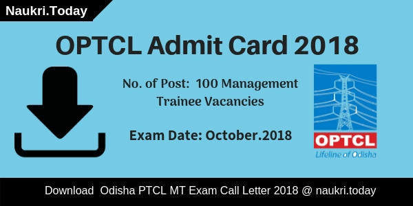 OPTCL Admit Card