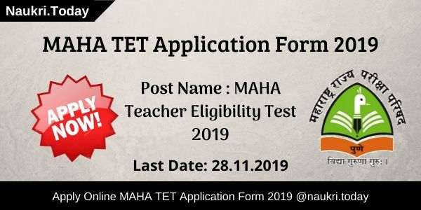 MAHA TET Application Form