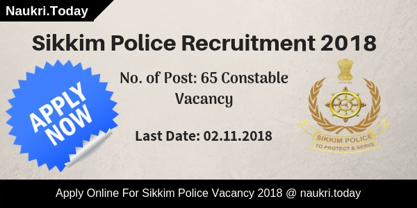 Sikkim Police Recruitment