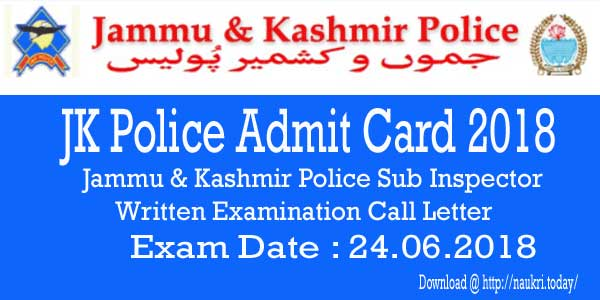 JK Police Admit Card