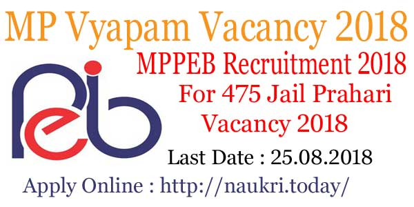MP Vyapam Vacancy 2018