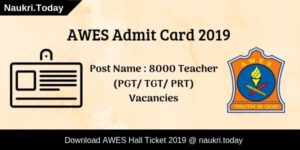 AWES Admit Card