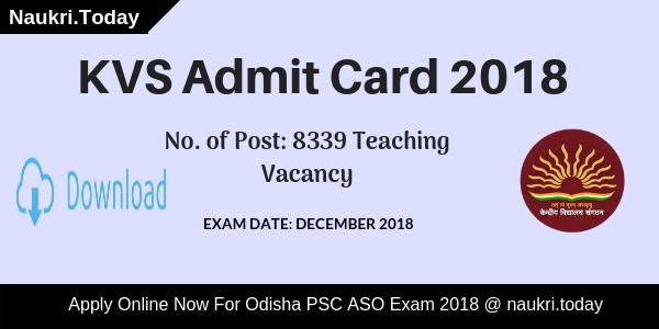 KVS Admit Card
