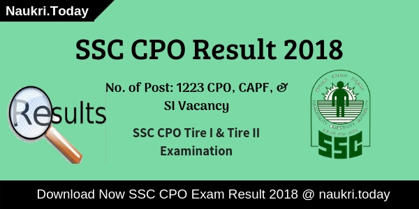 SSC CPO Result