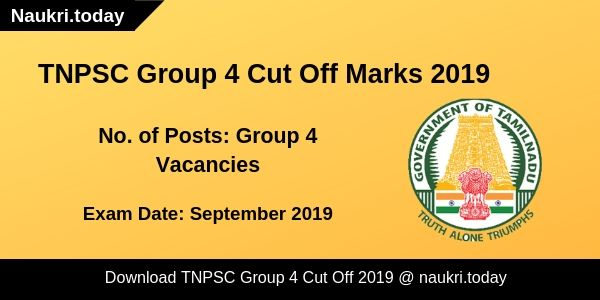 TNPSC Group 4 Cut Off Mraks