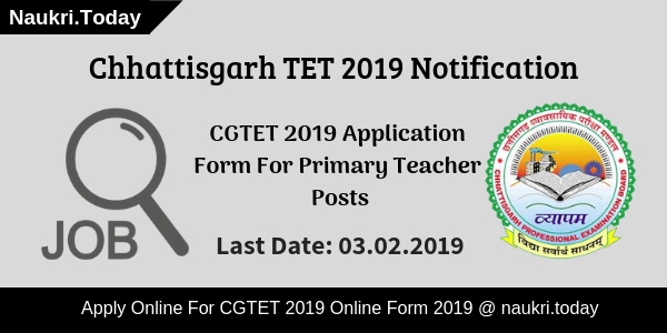 CG TET 2019 Application Form