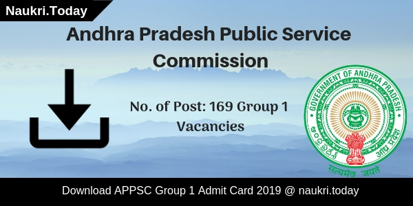 APPSC Group 1 Admit Card