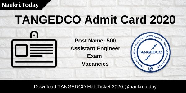 TANGEDCO Admit Card 2020