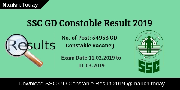 SC GD Constable Result