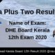 Kerala Plus Two Result
