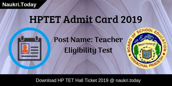HP TET Admit Card