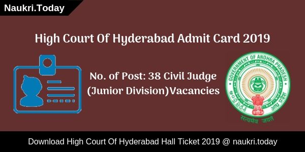 High Court Of Hyderabad Admit Card (1)