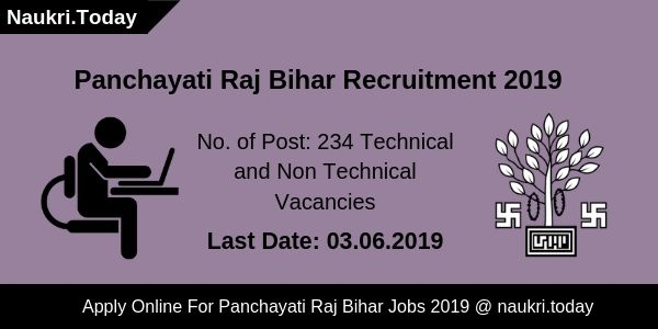 Panchayati Raj Bihar Recruitment