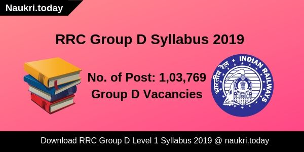 RRC Group D Syllabus