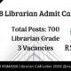 RSMSSB Librarian Admit Card