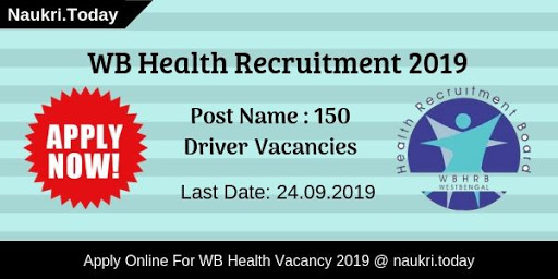 WB Health Recruitment 2019