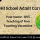 AAROHI School Admit Card