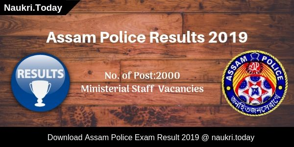 Assam Police Results