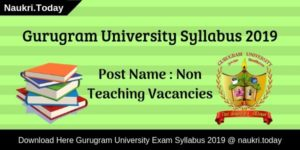Gurugram University Syllabus