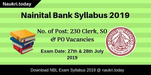Nainital Bank Syllabus